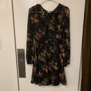 Forever 21 chiffon bird print dress